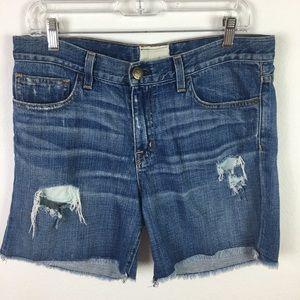 Current Elliott Distressed Denim Shorts 27